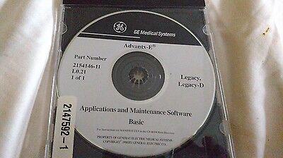 Ge Advantx-e Legacy Legacy-d Cd Rom Number 2154146-11 2147592-1