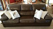 Lounge Suite, 100% Leather, 3 Seater Sofa plus Two Armchairs Wollongong Wollongong Area Preview