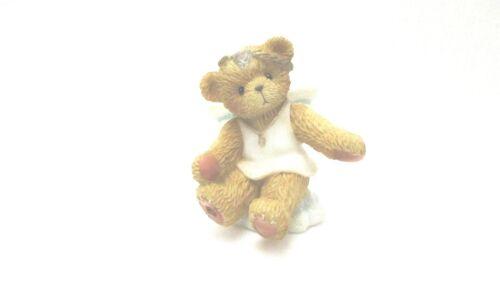 AVON Cherished Teddies Angel On Cloud Mini Figurine  -   April  -    NEW