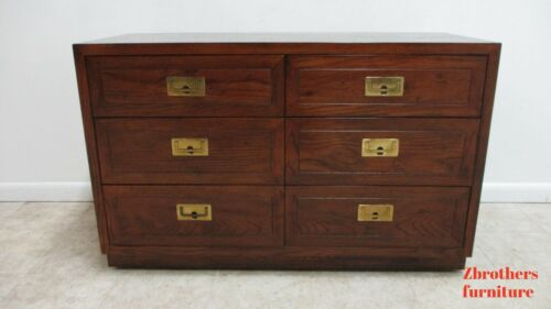 Henredon Scene One Campaign Bachelors Chest or Drawers Dresser Console server