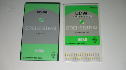 PCM Performance Data Xsc-2s Orchestral Rom cards for Korg 01W 01R/W Synthesizer