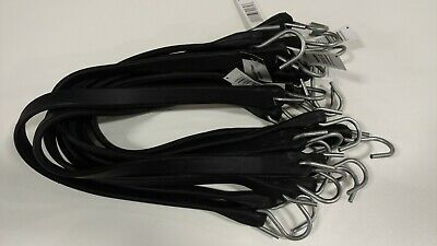 10 Pack 9 15 21 31 41 Heavy Duty Bungee Cord Tarp Tie Down Strap Natural Rubber