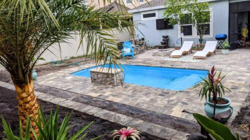 Fiberglass Swimming pool  Praia 22 w/ kit ( 9.9 x 22.9 x 4.6 deep )