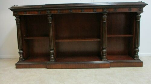 Monumnetal Maitland Smith Regency Mahogany Sideboard Console open Book Shelf