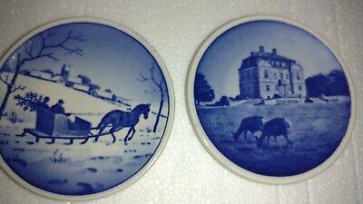 Royal Copenhagen - 3 Butter Pats - Mini-Plates, Plaquette -Denmark Fajance