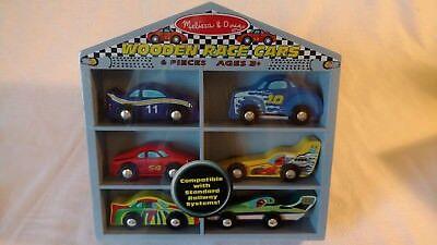 Melissa & Doug Wooden Race Cars Set NEW