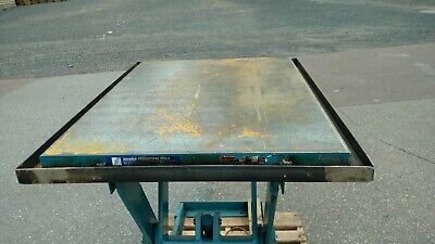 Electric Hydraulic Scissor Lift Table 2500 Lb Capacity 48 X 36 Table