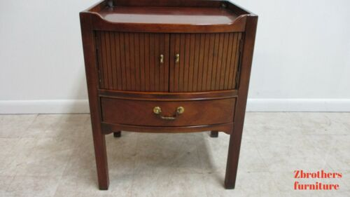 Vinatge Thomasville Mahogany Campaign Style Lamp End Table Night Stand A