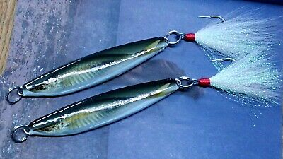 Ultra Mojo Trolling Striper Rockfish Nylon 12//0 Mustad Hook Shad Lure Char