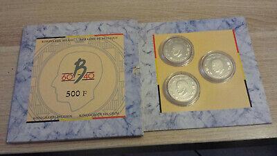 Belgium 3 X 500 francs 1990 QP