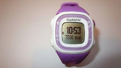Garmin Forerunner 15 Womens GPS Running Activity Watch Violet/White & Charger