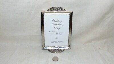 - VINTAGE SILVER TONE WEDDING INVITATION TRAY/ PHOTO PICTURE FRAME 4 1/2X6