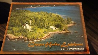 4x6 Unused Postcard - Copper Harbor Lighthouse - Michigan
