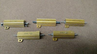 Lot Of 5 Rcl Rclal Dale 5025 Watt Resistors Mix Match