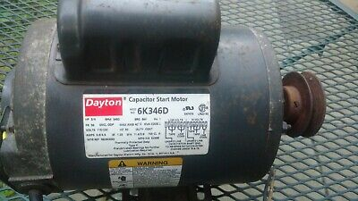 Dayton 6k346delectric Motor 34 Hp 3450 Rpm With Pulley