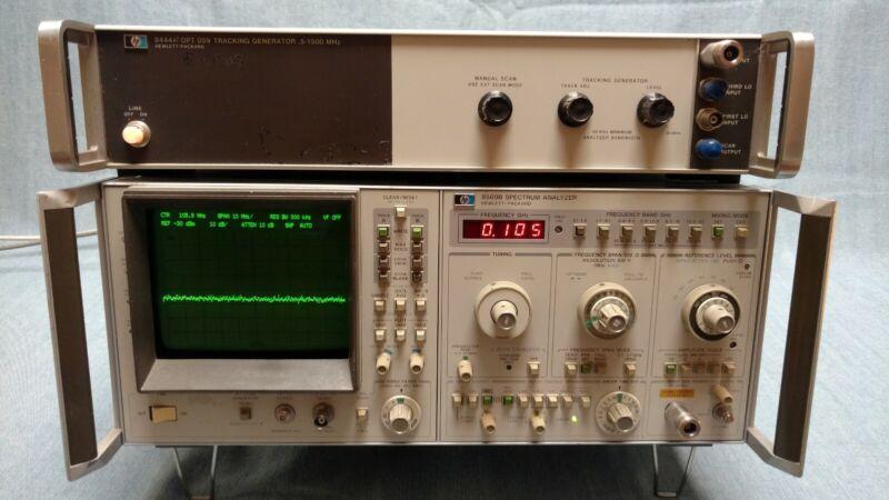 HP 8569B Spectrum Analyzer and HP 8444 Opt 59 Tracking Generator Combo