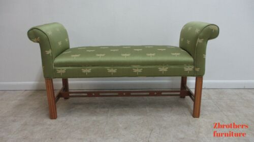 Ethan Allen Dragon Fly Window End Of the Bed Bench Settee