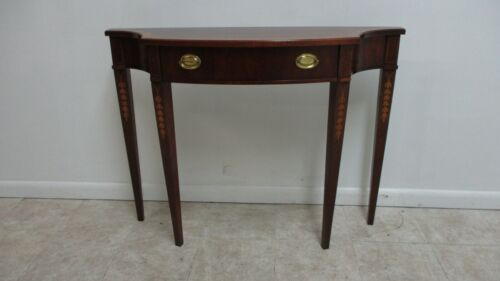 Thomasville The Mahogany Collection Banded Console Sofa Table Hepplewhite