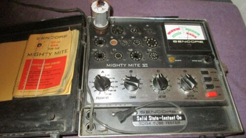 Very Nice Working Sencore TC154  TC-154 with Book Tube Tester