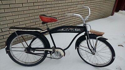 Horn Tank ELGIN or Columbia bicycle Art Deco bike tank on sale bare metal