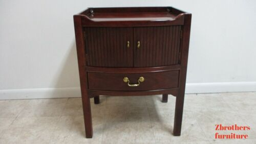 Vinatge Thomasville Mahogany Campaign Style Lamp End Table Night Stand B