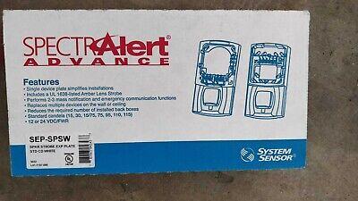 System Sensor Sep-spsw Fire Alarm Speaker Strobe Alert Extender New