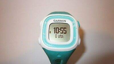 Garmin Forerunner 15 GPS Womens Running Activity Watch Teal/White & Charger
