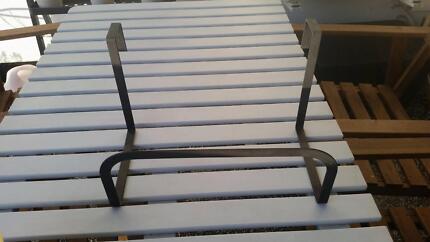 Metal flower pot holders for railing
