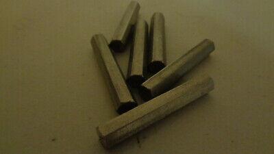 .3125 516 Diameter X 3 12 Long Stainless Steel Hex Rod Bar 303 Hexagon