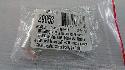 Rf Industries Connectors   Rfn 1026 1X   Rg 8 Lmr240