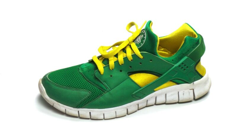 new styles 90644 2cca1 Details about Nike Huarache Free 2012 Court Green White Tour Yellow Sz 10  487654-338