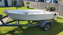 10 ft tinnie with 3.3 hp motor & trailer Blackalls Park Lake Macquarie Area Preview
