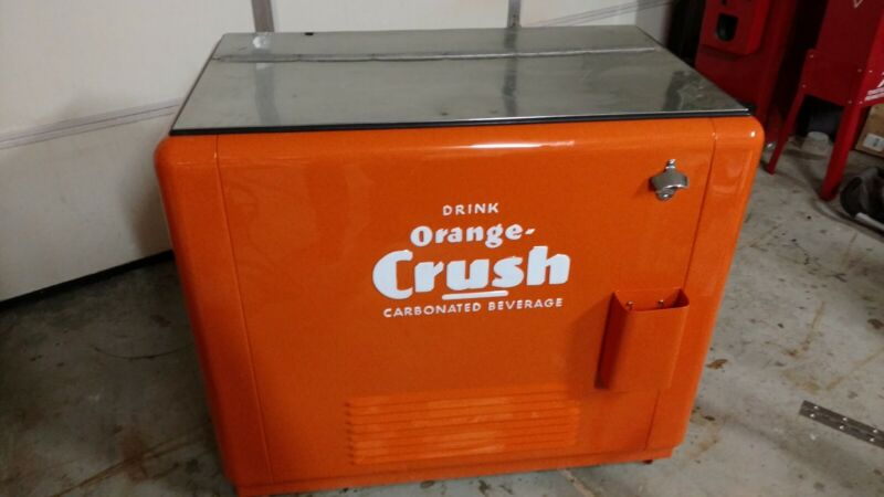 Orange Crush Soda Chest