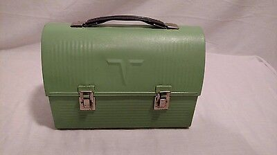 Vintage Miners Pail Thermos Brand Mint Green Colored , Great Condition