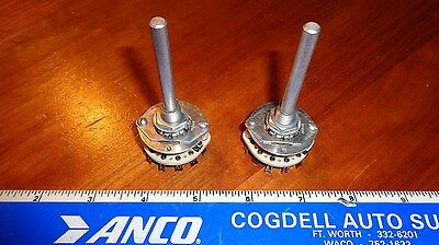2 Centralab 12 Position Rotary Switch Pa-2001 1 Pole Non-shorting