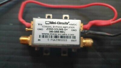 Mini-circuits Zx60-53lnb-s Low Noise Bypass Amplifier 0.5 To 5ghz