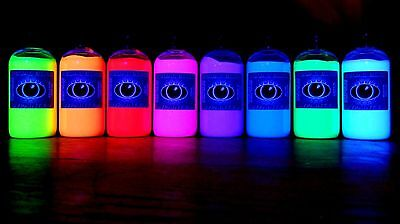 250ml Ultra Bright UV Paint 8 Vivid Colours U.V Neon Rave Art Glow U-V Luminous