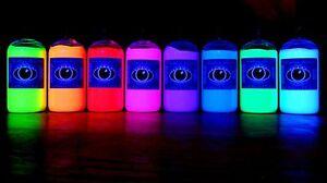 250ml-Ultra-Bright-UV-Paint-8-Vivid-Colours-U-V-Neon-Rave-Art-Glow-U-V-Luminous