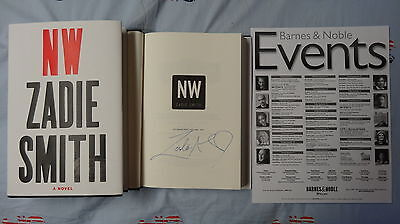 New SIGNED Zadie Smith NW Book 1/1 HC DJ Urban Epic First Print Edition Fiction
