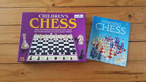 Childrens Chess set and book