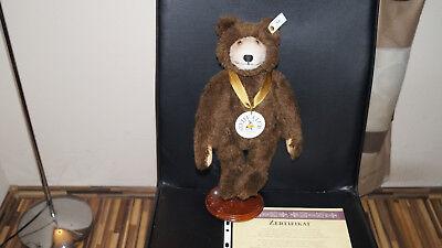 Steiff Club Bär 19996,Dicky Braunbär 1935 32cm, Zertifikat, unbespielt