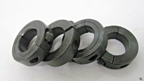 4 Qty 1 Inch Split Shaft Collars Black
