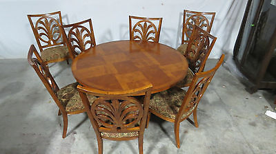 Century Dining Room Set Round Table 8 Chairs Wheat Florida Room