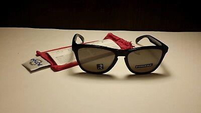 NEW Oakley OO9013-C455 Frog Skins Gloss Black (Oakley Frog Skin Sunglasses)