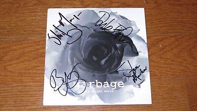 "GARBAGE 7"" blue vinyl single SIGNED AUTOGRAPHED Big Bright World"