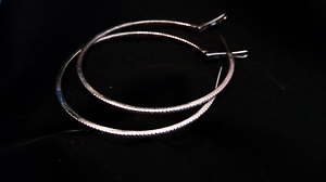 Diamond hoops earring in white gold Forrestfield Kalamunda Area Preview