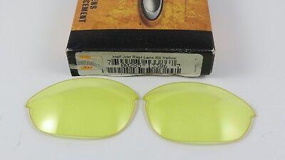 e1fc6a8b42 Oakley Half Jacket 1.0 H.I Yellow Replacement Lenses+Original Box 13-386 NEW
