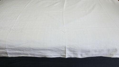 Antique Linen White Tablecloth European 168x140cm