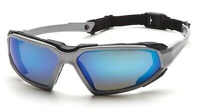 Pyramex Highlander Ice Blue Mirror Anti Fog Safety Glassesgoggles Foam Padded