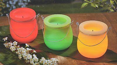 Kerzen LED Kerze Windlicht Echtwachskerze Duftswachs 3er Kerzenset Hellum Party